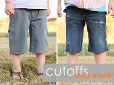 Turning Winter Pants into Summer Cutoffs: DIY tutorial how to make them look good