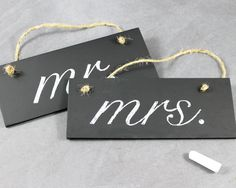 Hanging Chalk Board Signs Wedding Decorations by EventDesignShop
