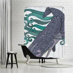 Valentina Ramos - Deep violet, Shower Curtain, 180x180