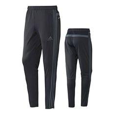 solid black adidas soccer pants