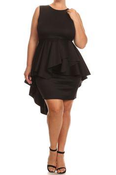 9793cb7e808 Plus Size For Love Layered Peplum Dress – PLUSSIZEFIX Wedding Dress Shapes