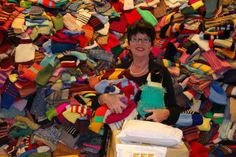 Angelika Regenstein, 20.000 Pullover für Pinguine stricken, 2012