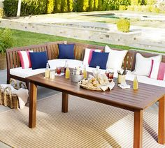Chatham Rectangular Extending Dining Table & Banquette Set | Pottery Barn