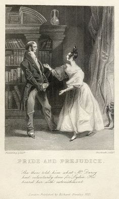 Happy 206th birthday to Pride and Prejudice, published #OnThisDay in 1813. Image credit: An 1833 engraving of a scene from Chapter 59 of Jane Austen's Pride and Prejudice by Pickering & Greatbatch. Public Domain via Wikimedia Commons. #janeausten #prideandprejudice #literature