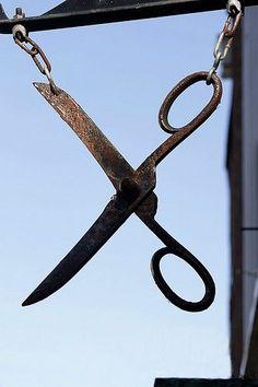 Antique Scissor Signage
