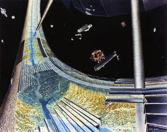 Images of a toroidal space colony from NASA-commissioned conceptual artwork in the Carl Sagan, Norman Foster, Future Inventions, Space Colony, 70s Sci Fi Art, Stanford University, Science Fiction Art, Science Fair, Social Science