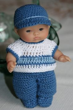 PDF PATTERN Crochet 5 inch Berenguer Baby Doll Little Boy Blue.