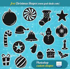 Christmas Free Vector Shapes | PSDDude