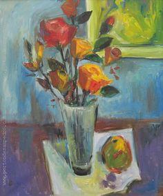 """Zoma Baitler """"Flores"""" Óleo sobre tela  Año 1993  60 x 50 cm. Firmado, fechado y dedicado al dorso  http://www.portondesanpedro.com/ver-producto.php?id=12402"""