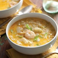 Cream of Mirliton and Shrimp Soup
