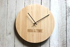 Modern Wood Wall Clock  Now Is The Time by RichwoodCreations