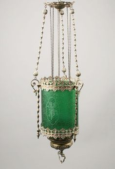 Mmm, green! Plant Hanger, Lanterns, Lamps, Candle Holders, Iron, House Design, Lighting, Pretty, Accessories