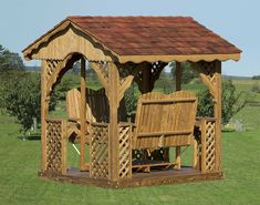 This is exactly like the one in our back yard! I was reading in it Sunday after Mass. <3 #gazebo #swing