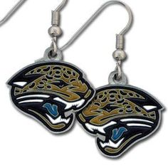 Jacksonville Jaguars Dangle Earrings (Set of 2) - NFL Football Fan Shop Sports Team Merchandise. Enameled zinc logo earrings with the NFL Jacksonville Jaguars  Logo. A great way to show off your team spirit!