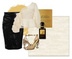 """goldennn #2"" by esther-mdln on Polyvore featuring West Elm, Dogeared, Versace, Johanna Ortiz, Dolce&Gabbana and Tom Ford"