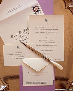 Smart RSVP card tip: Since people sometimes forget to write their names on the reply card, number your guest list, and then lightly pencil the proper number on the back of each reply card before tucking it into the addressed invitation.