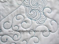Amy's Free Motion Quilting Adventures: Free Motion Quilting Design: McTavishing with a Twist