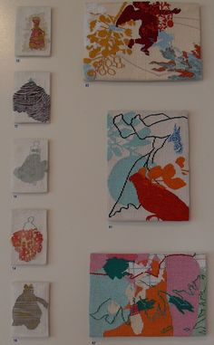 Small tapestries by Andrew Cook and Nusra Latif Qureshi