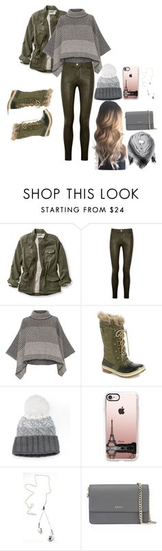 """Winter Outfit"" by hkhali ❤ liked on Polyvore featuring L.L.Bean, Paige Denim, Piazza Sempione, SOREL, SO, Casetify, DKNY, BeckSöndergaard and plus size clothing"