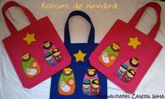 Manualidades Caseras Inma_ Bolsa Navideñas