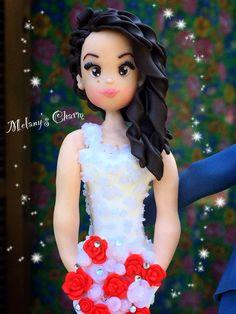 Sposa di uno dei miei cake-topper  #caketopper #sposini #personalizzato #nozze #matrimonio #torta