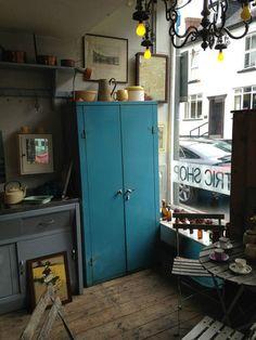 Petrol blue vintage industrial metal locker cabinet | eBay