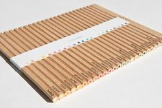 No Packaging Needed with Pull-Apart Colored Pencil Concept