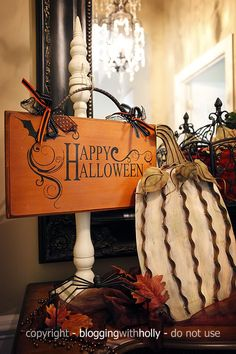 I love the candlestick sign holder - can make signs for different times of the year!