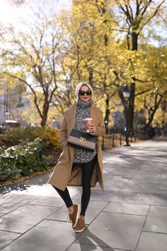 tunic-sweater-sneakers-camel-nordstrom-nyc-street-style