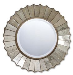 Uttermost 08028 B - AMBERLYN ETCHED ROUND MIRROR for bathroom