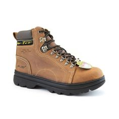 367ef8e0b09e AdTec Womens Brown 6in Steel Toe Work Boot Crazy Horse Leather