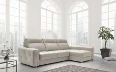 Chaiselongue de diseño modelo JIMENA con capitoné en piel Couch, Furniture, Home Decor, Templates, Lower Backs, Fur, Cooking, Blue Prints, Settee