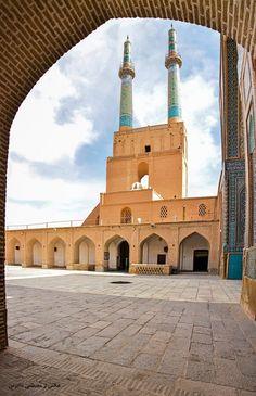 مناره های مسجد جامع کبیر یزد