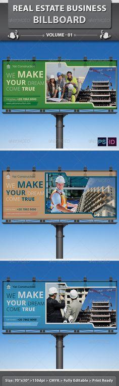 Real Estate Business Billboard | Volume 1 #GraphicRiver