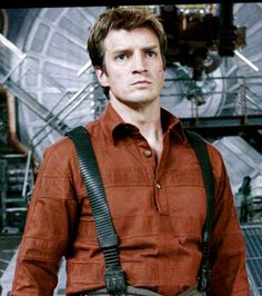 Nathan Fillion as Malcolm Reynolds from Firefly, a show too good for television. I have a major crush on Nathan Fillion! Firefly Serenity, Serenity Movie, Joss Whedon, Malcolm Reynolds, Ariana Grande, Science Fiction, Fiction Movies, Raining Men, Movies