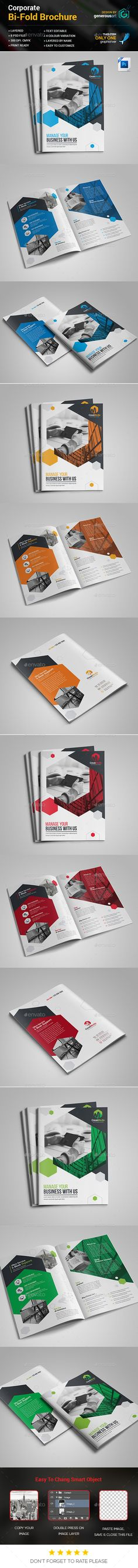 Bi-Fold Brochure Template - Corporate Brochures Download here : https://graphicriver.net/item/bifold-brochure-template/19455204?s_rank=67&ref=Al-fatih