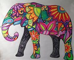 Deco Elephant, Elephant Love, Elephant Art, Elephant Paintings, Art Pop, Mandala Art, Elefante Hindu, Wal Art, Doodles Zentangles