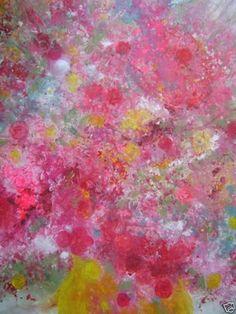 "Saatchi Online Artist Sheri Salin; Painting, ""FUN FLORAL"" #art"
