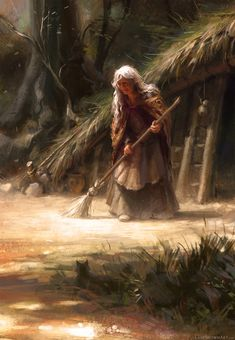 f Hag Witch Deep in the forest an old crone lives surrounded by mystical wards & charmed woodland creatures of surprising ferocity… Meanwhile Back in The Dungeon. Fantasy World, Fantasy Art, Character Inspiration, Character Art, Character Portraits, Story Inspiration, Witch Cottage, Hedge Witch, Baba Yaga