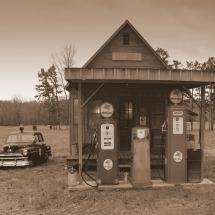 Vieja estación de gas Arkansas