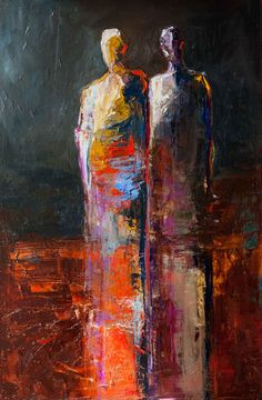 abstract figurative, contemporary art, vivid color,