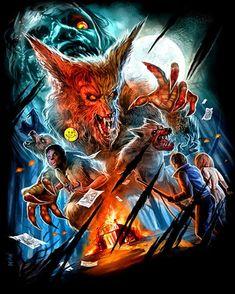 The Howling - Hurlements - Joe Dante - Werewolf - loup garou - horror movie Horror Icons, Horror Movie Posters, Movie Poster Art, Patrick Macnee, The Howling, Werewolf Art, Horror Themes, Horror Artwork, Horror Monsters