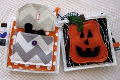 Build a Jack-o-Lantern face quiet book page