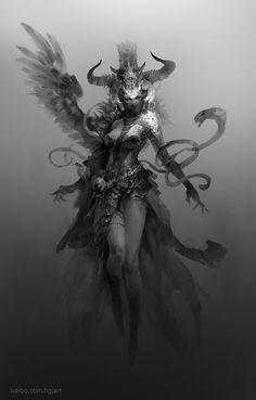 Fantasy Warrior, Fantasy Rpg, Dark Fantasy Art, Fantasy Girl, Fantasy Artwork, Dark Art, Fantasy Character Design, Character Design Inspiration, Character Art
