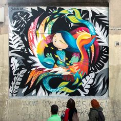 Madrid has some beautiful surprises on offer for lovers of street art. I found some really impressive street art in Madrid, especially murals. Graffiti Art, Best Graffiti, Murals Street Art, 3d Street Art, Mural Art, Street Artists, Pavement Art, School Murals, Building Art