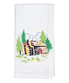 Look at this Log Cabin Flour Sack Towel - Set of Two on #zulily today!