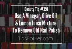 Removing old nail polish is not only tough, but it. Removing old nail polish is not only tough, but it's also time consuming. Josie Maran, Diy Makeup Remover Wipes, Safe Nail Polish, Diy Nagellack, Disney Nails, Health And Beauty Tips, Health Tips, Cool Nail Designs, Simple Nails