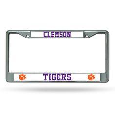 New! Clemson Tigers Chrome License Plate Frame #ClemsonTigers