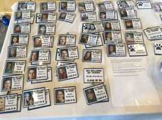 20th High School Reunion name tags... Created with senior photos :)