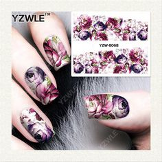 Imported From Abroad Yzwle 1 Pcs Sunflower Water Slide Decals Nail Sticker Diy Water Decals Summer Tiny Flower Nail Art Decorations Be Friendly In Use Stickers & Decals